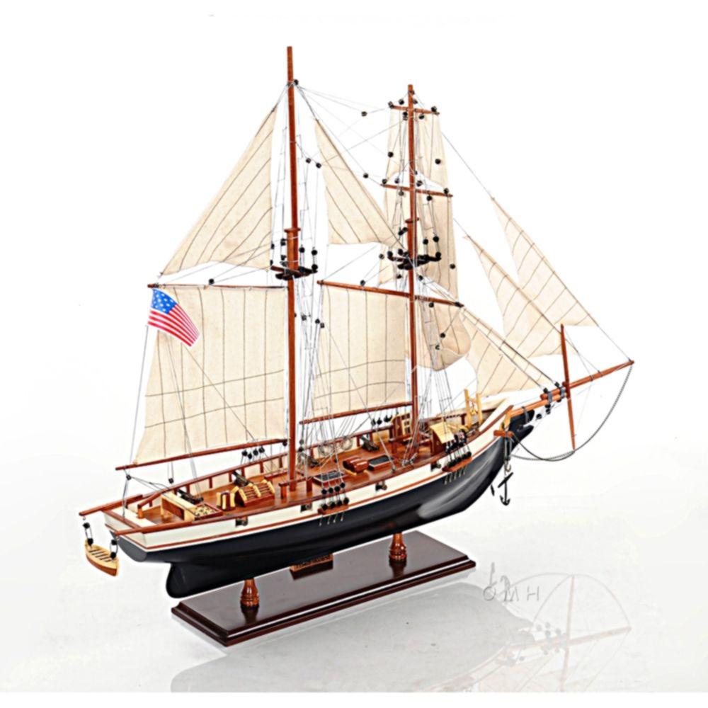 HMS Harvey Model, Wooden Sailing Ship