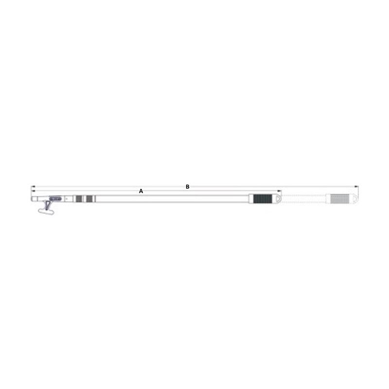 48 Sea-Dog 491012-1 Aluminum One-Piece Boat Hook