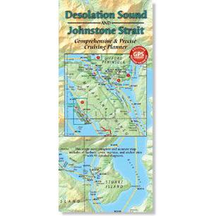Desolation Sound Cruising Planner Map on